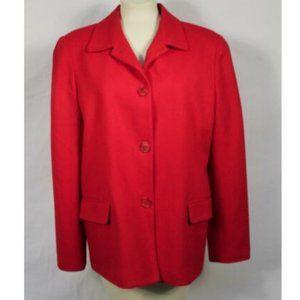Vtg. Requirements Red Wool Three-Button Blazer 16